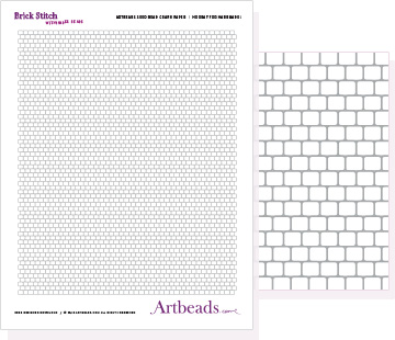 Free Graph Paper: Brick Stitch with Cylinder Beads