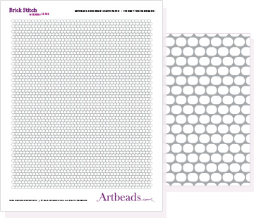 Free Graph Paper: Brick Stitch with Round Beads