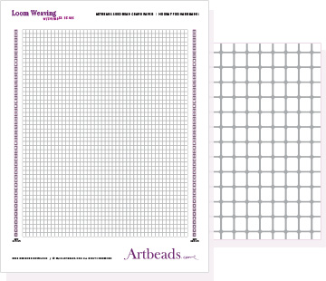 Free Graph Paper: Loom Weaving with Cynlinder Beads