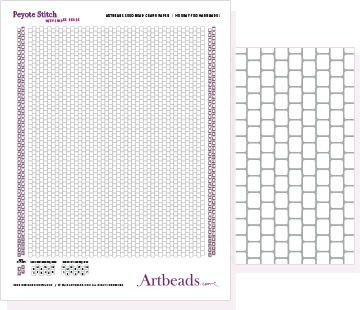 Free Graph Paper: Peyote Stitch with Cynlinder Beads