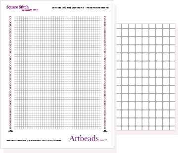Free Graph Paper: Square Stitch with Cynlinder Beads