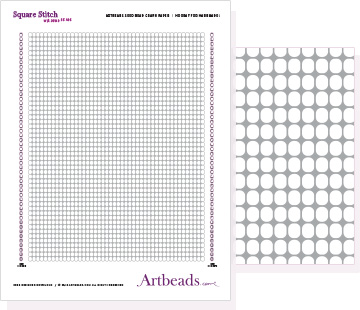 Free Graph Paper: Square Stitch with Round Beads