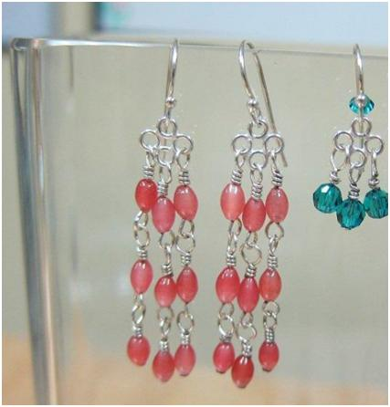 Clean silver earrings with beads